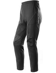 Недорогие -INBIKE Муж. Велобрюки Велоспорт Брюки Дышащий, Сохраняет тепло Флис Зима Черный Средний уровень Горные велосипеды Плотное облегание Одежда для велоспорта / Слабоэластичная