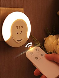 Недорогие -1шт LED Night Light Естественный белый DC Powered Диммируемая / Безопасность / Беспроводной 220-240 V