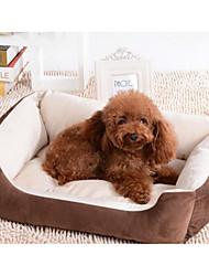 baratos -Cachorros / Gatos Camas Animais de Estimação Delineadores Osso Manter Quente / Respirável / Macio Preto / Marron Para animais de estimação