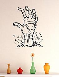 Недорогие -Оконная пленка и наклейки Украшение Хэллоуин Однотонный / Праздник ПВХ Стикер на окна
