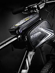 Недорогие -Бардачок на руль Сенсорный экран Водонепроницаемая молния Со светоотражающими полосками Велосумка/бардачок Кожа PU ТПУ Велосумка/бардачок Велосумка Велосипедный спорт Велоспорт