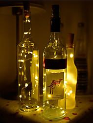cheap -BRELONG® 1pc Wine Bottle Stopper LED Night Light Warm White / White / Red Button Battery Powered Creative / Wedding / Decoration <5 V
