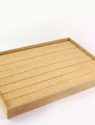Недорогие -Место хранения организация Ювелирная коллекция Смешанные материалы Квадратная Открытая крышка / Поднос