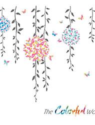 Недорогие -Декоративные наклейки на стены - Простые наклейки Пейзаж / Цветочные мотивы / ботанический Спальня / В помещении