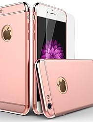 Недорогие -Кейс для Назначение Apple iPhone 6 / iPhone 6s Покрытие Кейс на заднюю панель Однотонный Твердый ПК для iPhone 6s / iPhone 6
