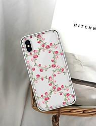Недорогие -Кейс для Назначение Apple iPhone XS / iPhone 6 С узором Кейс на заднюю панель Цветы Мягкий ТПУ для iPhone XS / iPhone XR / iPhone XS Max