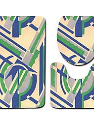 abordables -3 Pièces Décontracté / Moderne Tapis Anti-Dérapants Polyester Elastique Tissé 100g / m2 Créatif / Abstrait Irrégulier Mignon