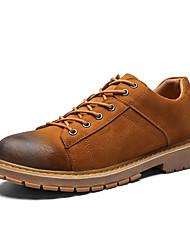 abordables -Homme Chaussures de confort Polyuréthane Automne Décontracté Basket Augmenter la hauteur Noir / Gris / Marron