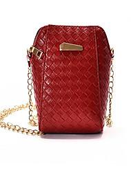 cheap -Women's Bags PU(Polyurethane) Mobile Phone Bag Embossed Geometric Black / Red / Silver