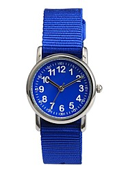 Недорогие -Для пары Спортивные часы Японский Японский кварц 30 m Повседневные часы Милый Нейлон Группа Аналоговый На каждый день Черный / Синий / Розовый - Черный Синий Розовый Два года Срок службы батареи