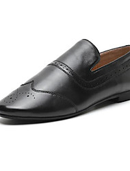 abordables -Femme Chaussures de confort Cuir Nappa Automne Mocassins et Chaussons+D6148 Talon Plat Bout fermé Noir / Marron