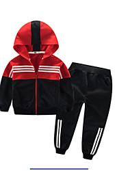 billige -Børn Drenge Ensfarvet Langærmet Tøjsæt