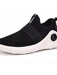 Недорогие -Муж. Комфортная обувь Трикотаж / Эластичная ткань Осень Спортивная обувь Для прогулок Черный