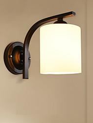Недорогие -Северная Европа Стеклянная стена Браслет Гостиная Столовая Спальня Металлические мини-настенные светильники