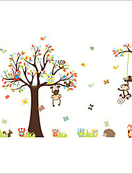 Недорогие -Декоративные наклейки на стены - Простые наклейки / Наклейки для животных Животные / Цветочные мотивы / ботанический Детская