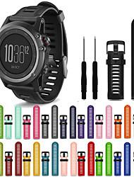 Недорогие -Ремешок для часов для Fenix 3 HR Garmin Спортивный ремешок силиконовый Повязка на запястье