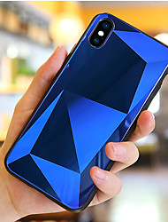 Недорогие -Кейс для Назначение Apple iPhone X / iPhone 8 Pluss / iPhone 8 Защита от удара / Зеркальная поверхность Кейс на заднюю панель Геометрический рисунок Твердый Закаленное стекло