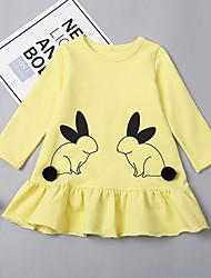 economico -Bambino (1-4 anni) Da ragazza Animali Manica lunga Vestito