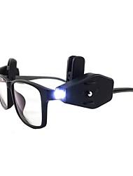 cheap -BRELONG® 2pcs Eyeglass LED Night Light White Button Battery Powered Adjustable / Creative / with Clip <5 V