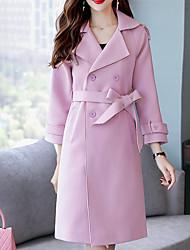 olcso -Alkalmi Bubigallér Női Kabát - Egyszínű