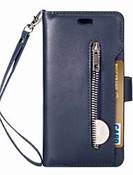 Недорогие -Кейс для Назначение Huawei P20 lite Кошелек / Бумажник для карт / Флип Чехол Однотонный Твердый Кожа PU для Huawei P20 lite