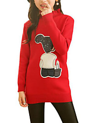 cheap -Kids Girls' Patchwork Long Sleeve Sweater & Cardigan