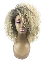 cheap -Wig Accessories / Costume Accessories / Synthetic Wig Curly Blonde Layered Haircut 180% Density Synthetic Hair 18 inch Women / Synthetic / Hot Sale Blonde Wig Women's Mid Length Capless Light golden