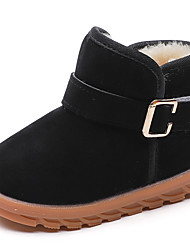 cheap -Boys' / Girls' Shoes PU(Polyurethane) Spring & Summer Comfort / Snow Boots Boots Walking Shoes Buckle / Split Joint for Kids Black / Red / Light Brown / Booties / Ankle Boots