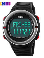 Недорогие -SKMEI Муж. Жен. Спортивные часы электронные часы Цифровой 30 m Защита от влаги Календарь Секундомер силиконовый Группа Цифровой На каждый день Черный / Зеленый - Красный Зеленый Синий / тахометр