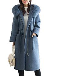 Недорогие -Жен. Пальто Активный - Однотонный