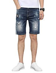 billige -Herre Gade Jeans Bukser Ensfarvet