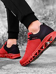 cheap -Men's Running Shoes / Sneakers Racing / Jogging Lightweight, Anti-Shake / Damping, Cushioning Breathable Mesh Black / Red / Black / Red