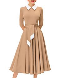 baratos -Mulheres Moda de Rua / Sofisticado Balanço Saias - Estampa Colorida