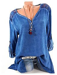 Недорогие -Жен. Рубашка V-образный вырез Графика