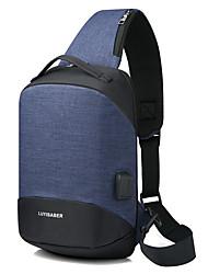 baratos -Homens Bolsas Náilon Sling sacos de ombro Ziper Azul Escuro / Cinzento / Roxo