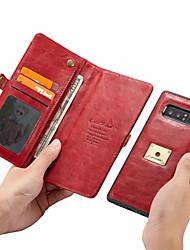 Недорогие -Кейс для Назначение SSamsung Galaxy Note 9 Кошелек / Бумажник для карт Чехол Однотонный Твердый Кожа PU для Note 9 / Note 8