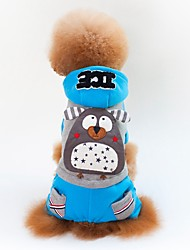 abordables -Chiens / Chats Manteaux Vêtements pour Chien Couleur Pleine / Avec motifs / Personnage Jaune / Bleu Coton Costume Pour les animaux domestiques Unisexe Décontracté / Quotidien / Style Simple