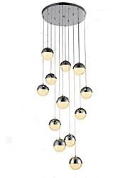 abordables -QIHengZhaoMing Lustre Lumière d'ambiance Plaqué Métal 110-120V / 220-240V Blanc Crème / Blanc Neige Ampoule incluse / G4