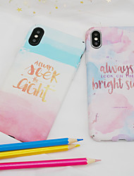 cheap -Case For Apple iPhone X / iPhone 8 Frosted / Pattern Back Cover Word / Phrase / Oil Painting Hard PC for iPhone X / iPhone 8 Plus / iPhone 8