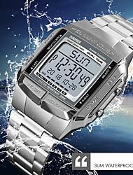 Недорогие -SKMEI Муж. Нарядные часы Наручные часы Японский Цифровой Нержавеющая сталь Серебристый металл / Золотистый / Розовое золото 30 m Защита от влаги Календарь Хронометр Цифровой На каждый день Мода -