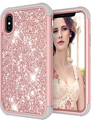 abordables -Coque Pour Apple iPhone XR / iPhone XS Max Antichoc / Brillant Coque Brillant Dur PC pour iPhone XS / iPhone XR / iPhone XS Max