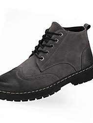 Недорогие -Муж. Комфортная обувь Наппа Leather Наступила зима Ботинки Серый / Коричневый / Военно-зеленный