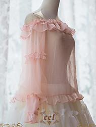 Недорогие -Сладкое детство See Through Элегантный стиль Мужской Блузы / сорочки Косплей Розовый Широкий, стянутый у запястья Длинный рукав костюмы