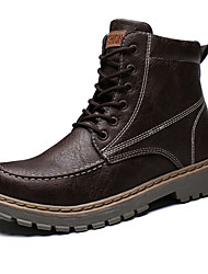 Недорогие -Муж. Комфортная обувь Кожа Осень Ботинки Черный / Коричневый