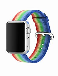Недорогие -Нейлон Ремешок для часов Ремень для Apple Watch Series 3 / 2 / 1 Синий / Оранжевый / Серый 23см / 9 дюйма 2.1cm / 0.83 дюймы