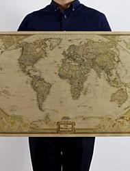 Недорогие -Большая винтажная карта мира канцелярские принадлежности подробный старинный плакат настенная диаграмма ретро бумага матовая крафт-бумага 28 * 18 дюймов карта мира