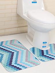 Недорогие -На каждый день Коврики для ванны 100 г / м2 полиэфирный стреч-трикотаж Геометрический принт нерегулярный Ванная комната Cool