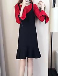 זול -שמלות אחיד - סוודר בגדי ריקוד נשים