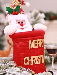 baratos -Sacos e Transportadores de Vinho Natal Não-Tecelado Novidades Decoração de Natal