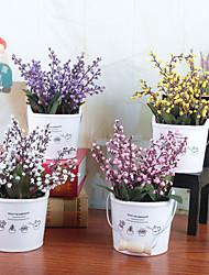 billige -Kunstige blomster 1 Afdeling Klassisk / Enkel Stilfuld / Moderne Vase Bordblomst